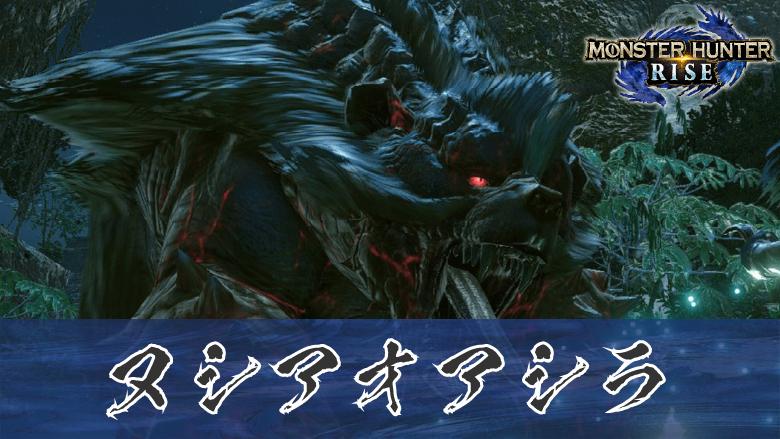 【モンハンライズ】ヌシアオアシラ弱点・装備・肉質・対策の機種画像