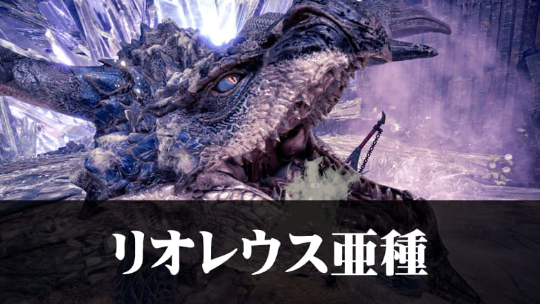 【MHWアイスボーン】リオレウス亜種弱点クエスト対策装備攻略の機種画像